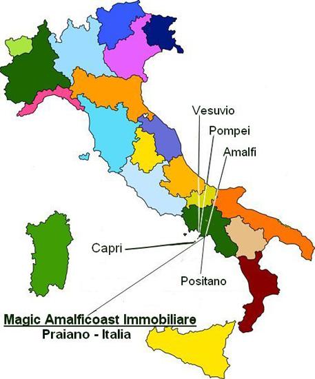 Costiera Amalfitana Cartina Stradale.Magic Amalficoast Immobiliare